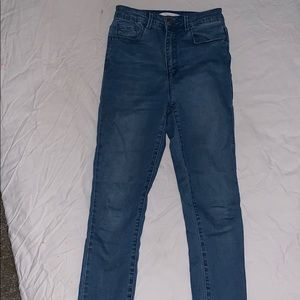 Forever 21 blue high waisted jeans
